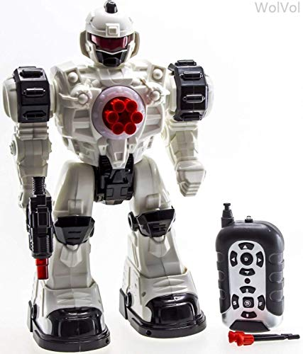 10 Channel Remote Control Robot Police Toy with Flashing Lights and Sounds, Great Action Toy for Boys
