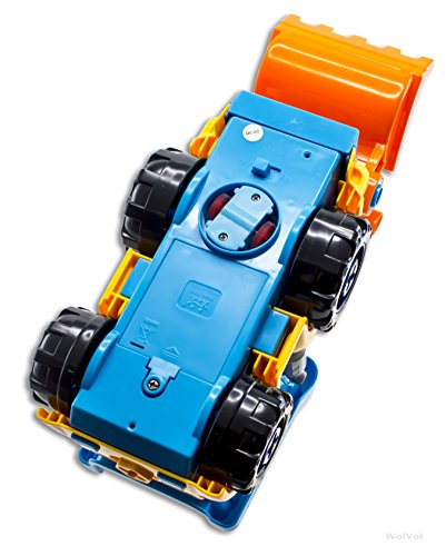 3-in-1 Construction Bulldozer Dump Excavator Take-A-Part Truck Toy with Drill and Tools, Lights and Music, Bump and Go Action