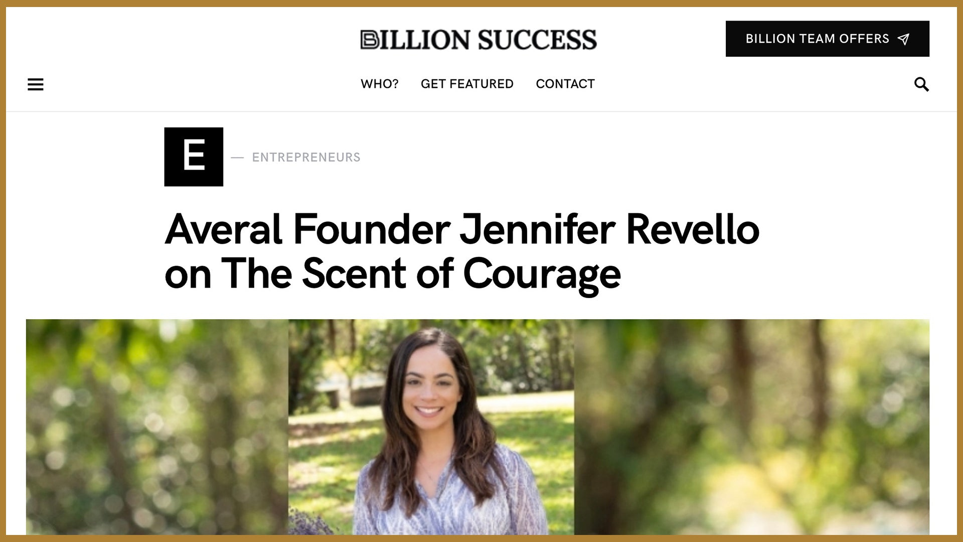 BUSINESS SUCCESS: Jennifer Revello, Averal French Soaps CEO
