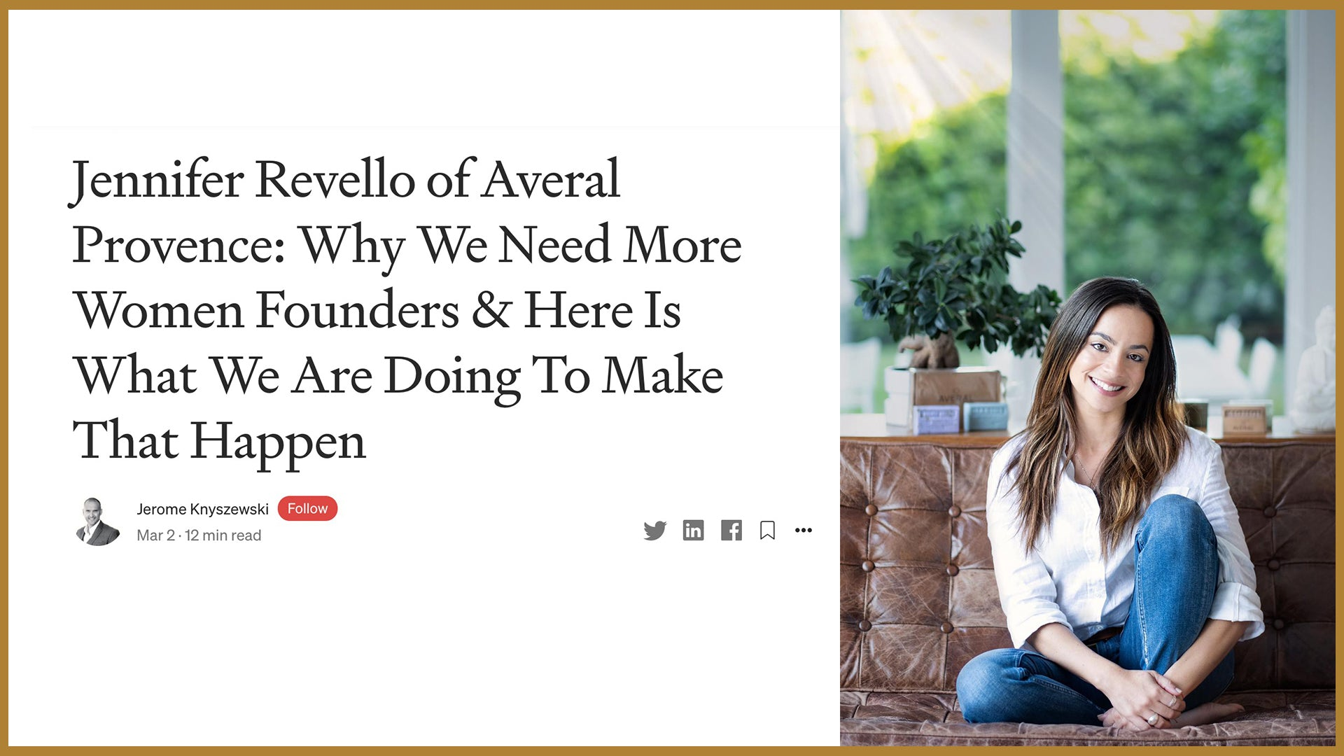 Jennifer Revello: woman in business, running a French Soaps company in the US Market, from Provence (France) to the United States