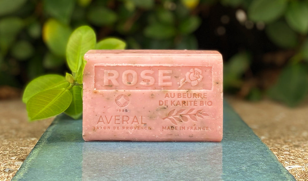 Rose Exfoliating Averal French Soap bar
