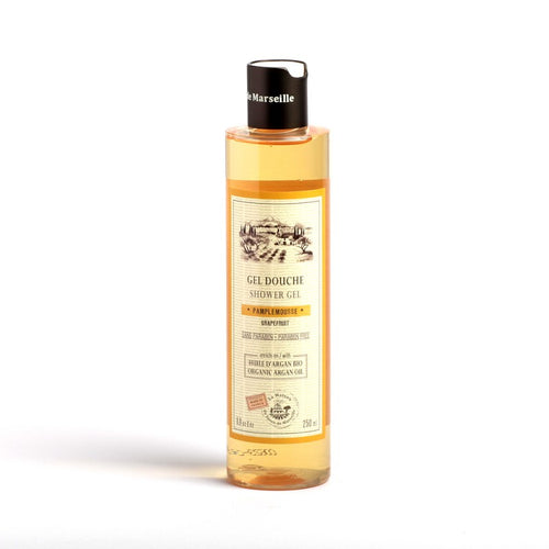 Organic Grapefruit Sower Gel enriched with Argan oil made In France