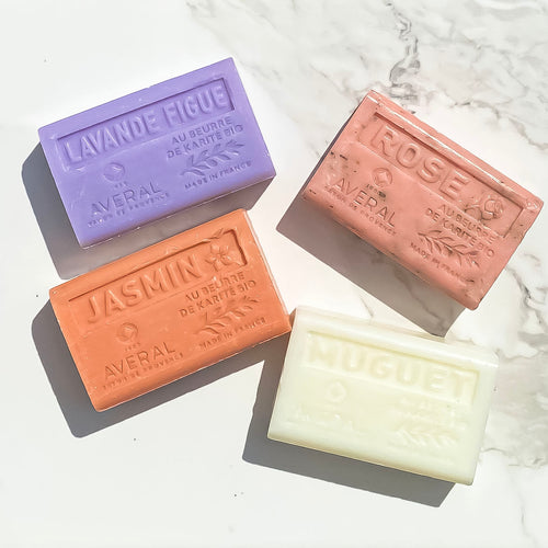 SPRING SET OF 4 BAR SOAPS