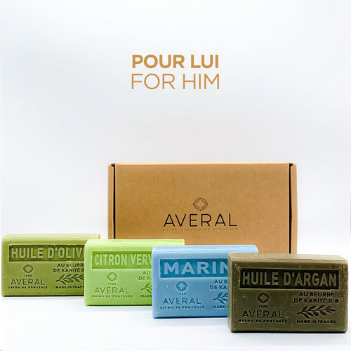 For Him  | Set of 4  French Bar Soaps