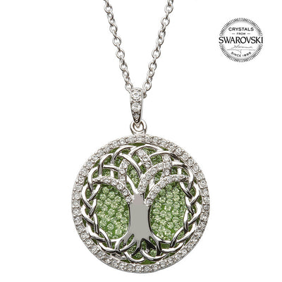 Tree of Life Pendant w/ Swarovski Crystals by Shanore