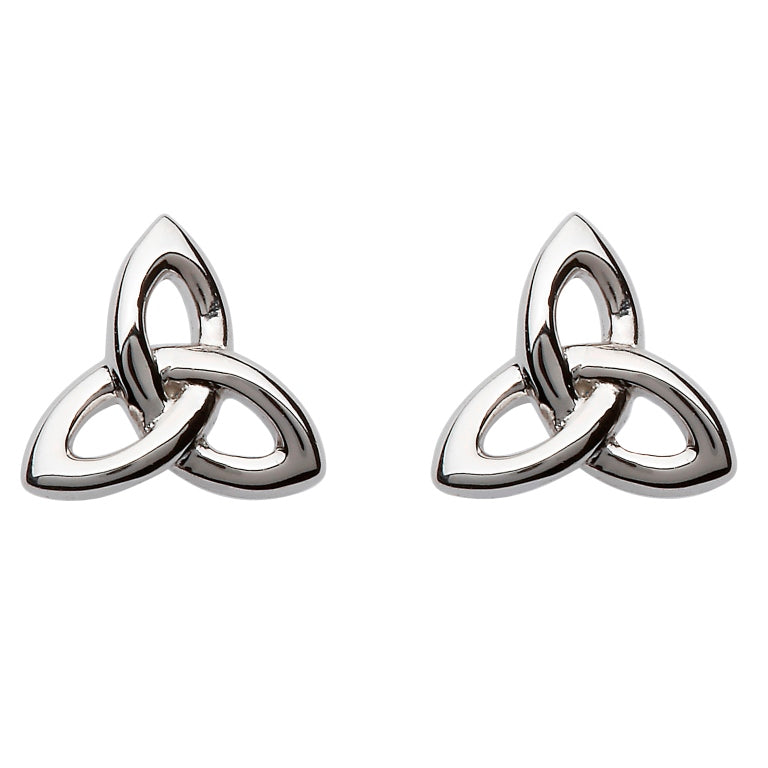 SE2201 Silver Celtic Trinity Knot Stud Earrings by Shanore