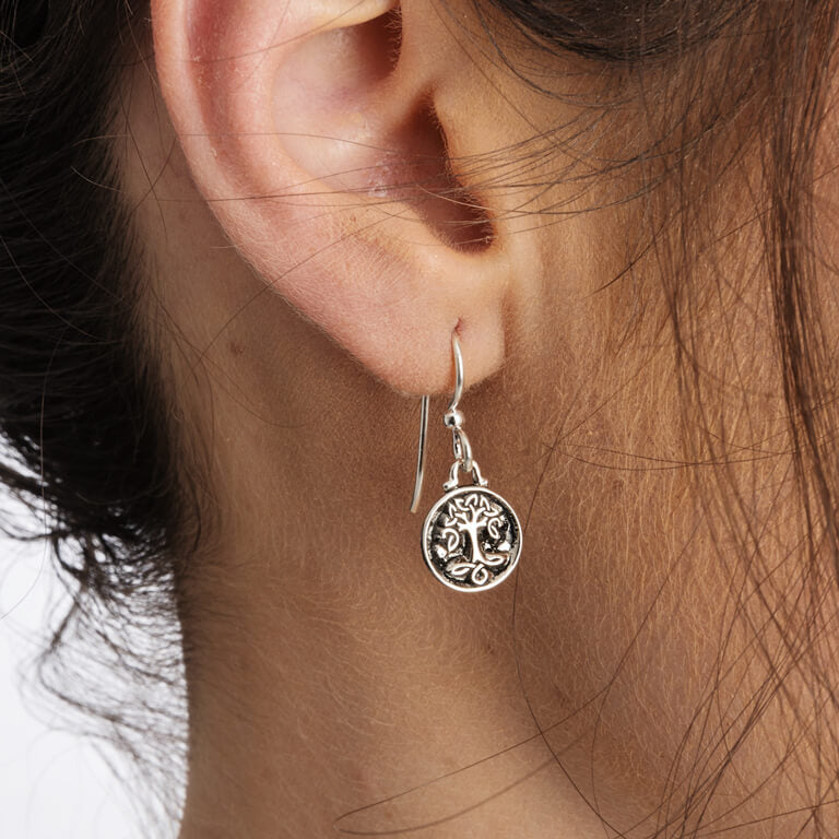 SE2226 Celtic Silver Tree Of Life Earrings by Shanore