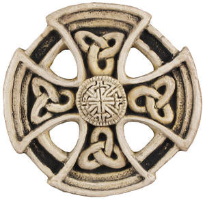 Front image of St Columba Wheel Cross by McHarp available at www.realirish.com