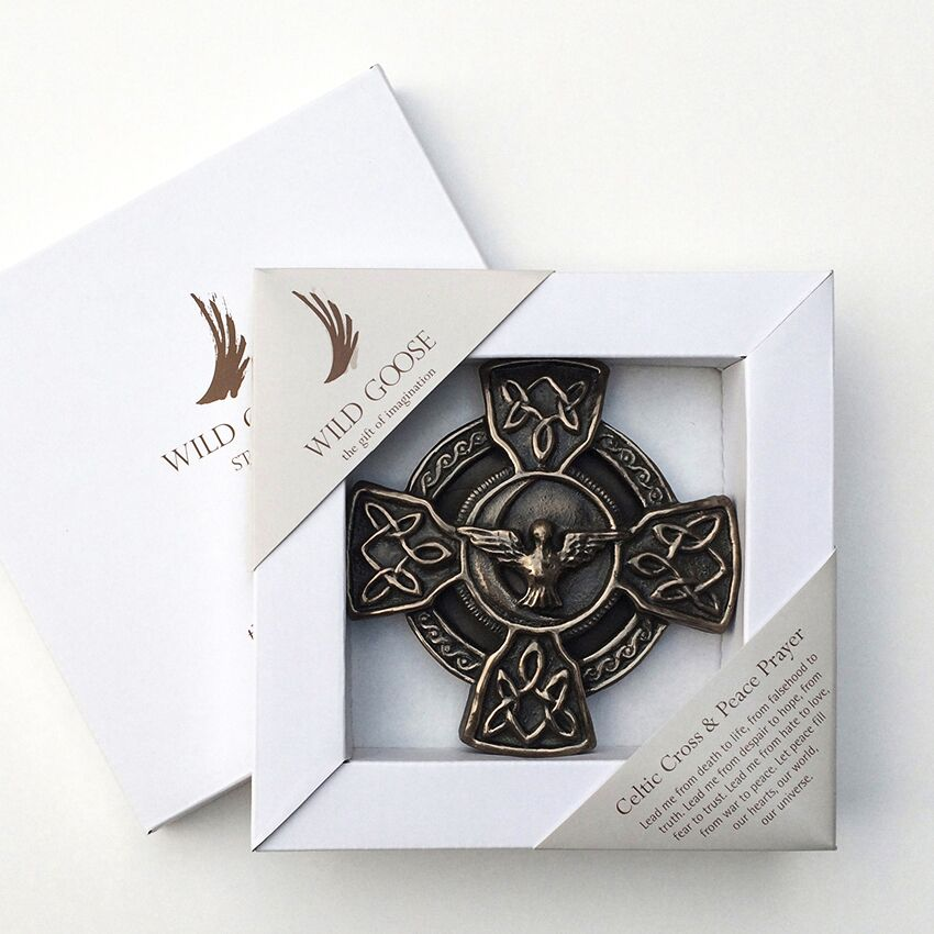 Celtic Cross and Peace Prayer Plaque