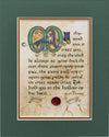 An Irish Blessing - Double Matted Celtic Art Print