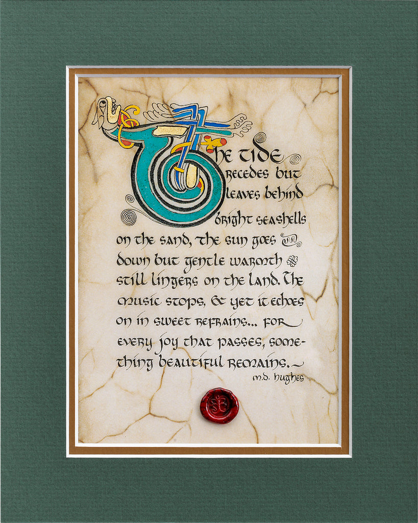 Something Beautiful Remains - Double Matted Celtic Art Print