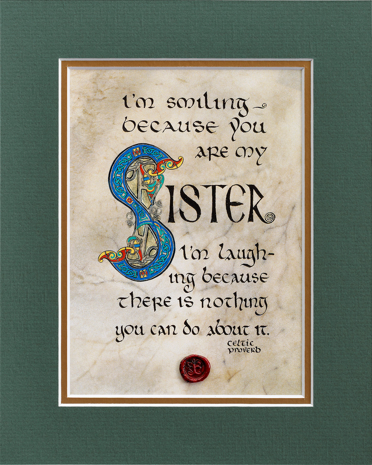 Sister Blessing - Double Matted Celtic Art Print