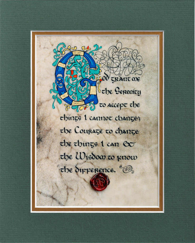 Serenity Prayer - Double Matted Celtic Art Print