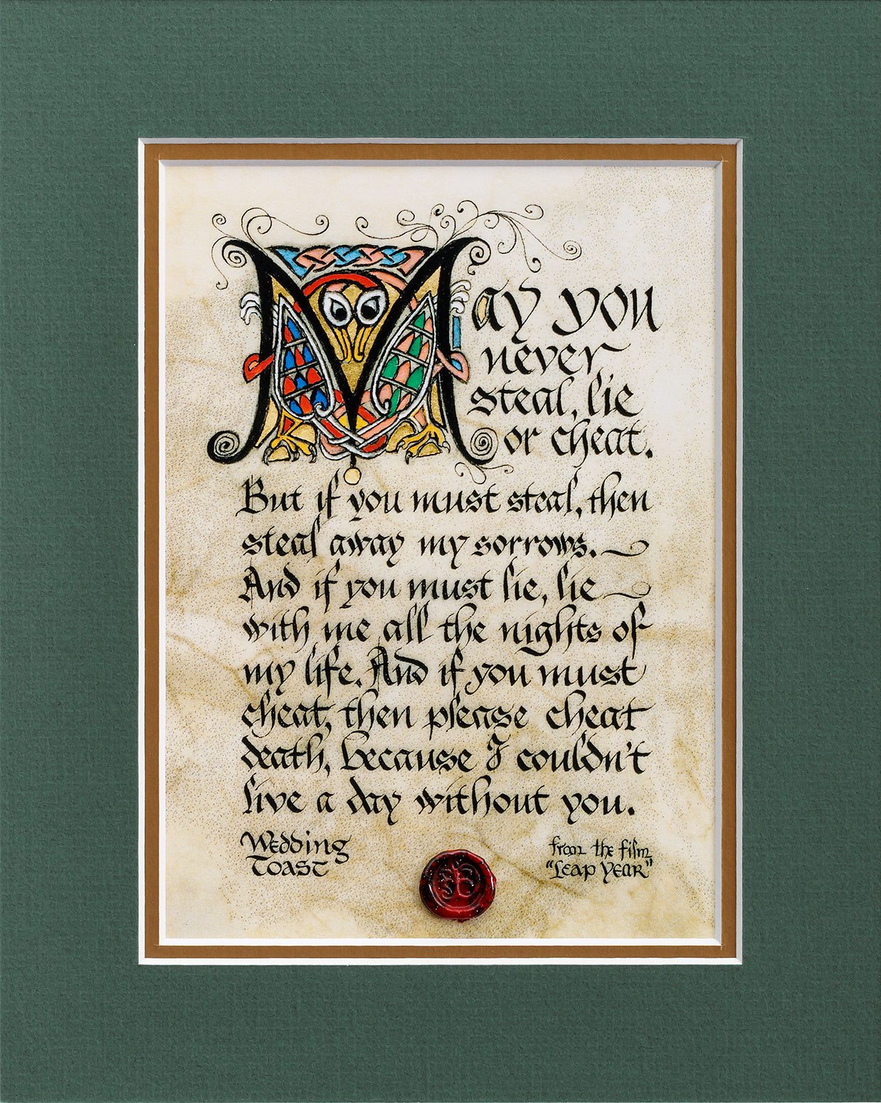 Wedding Toast - Double Matted Celtic Art Print
