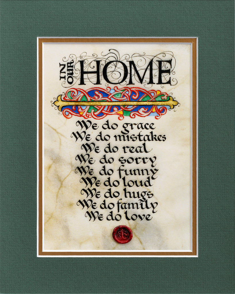 In Our Home - Double Matted Celtic Art Print