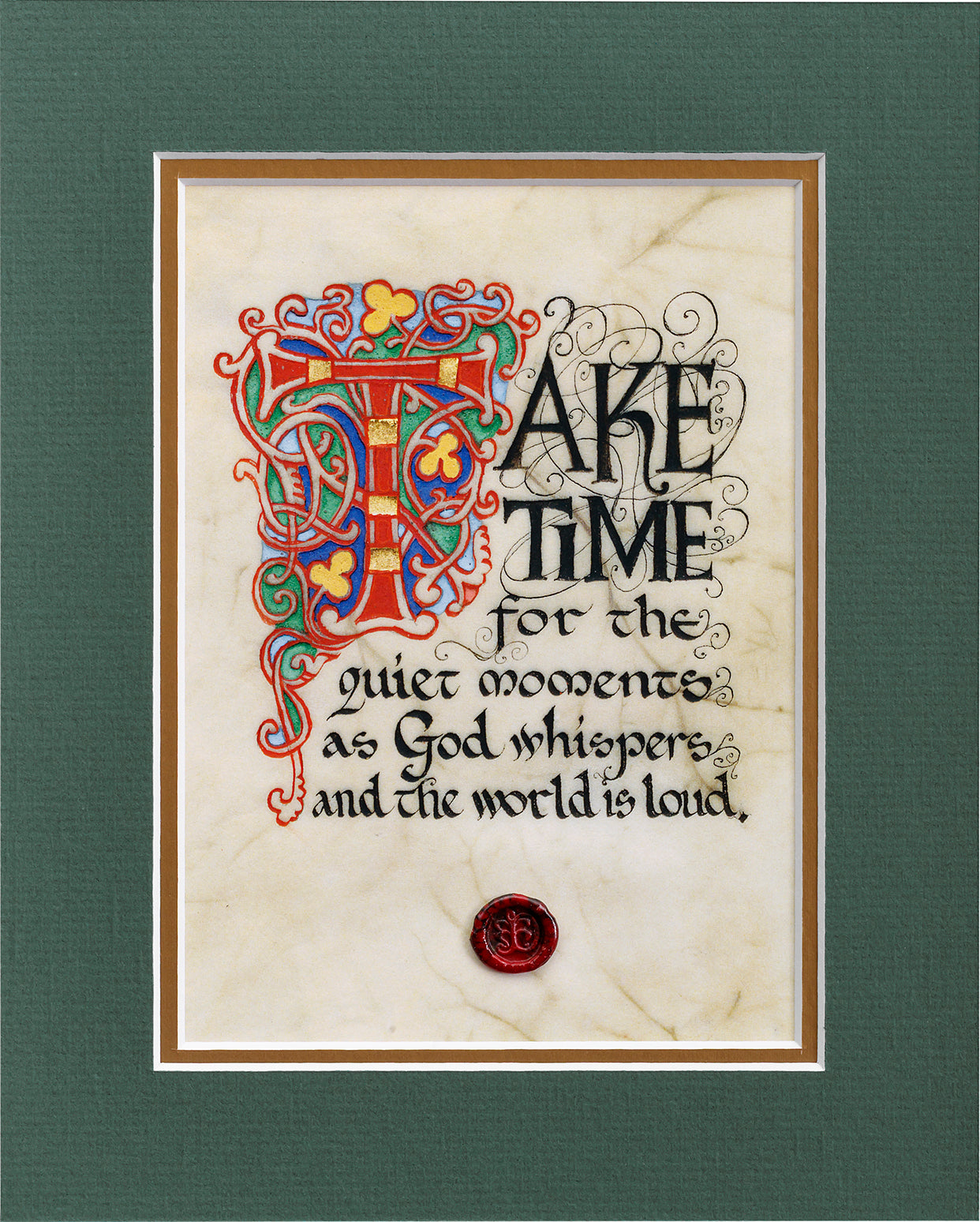 God Whispers - Double Matted Celtic Art Print