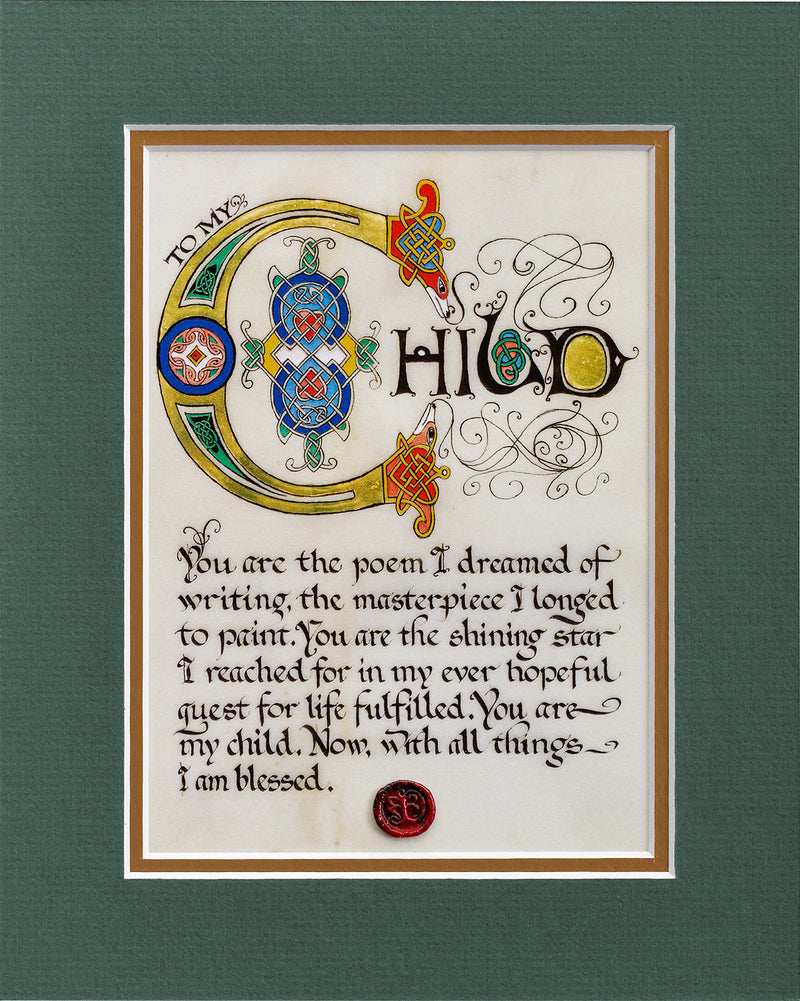 To My Child - Double Matted Celtic Art Print
