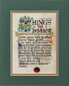 Things To Remember - Double Matted Celtic Art Print