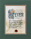 Never Take For Granted - Double Matted Celtic Art Print