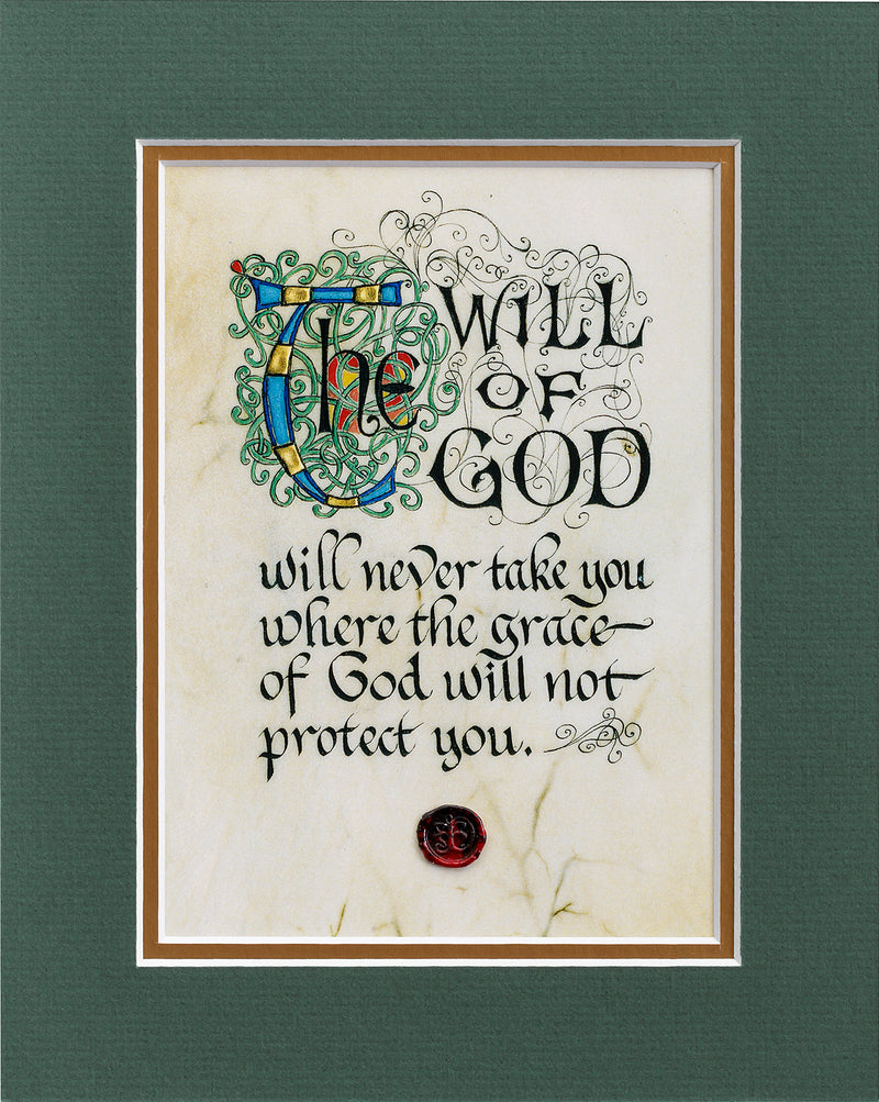 The Will of God - Double Matted Celtic Art Print
