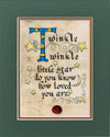 Twinkle Twinkle Little Star- Double Matted Celtic Art Print