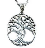 Women's Sterling Silver Tree of Life Large Pendant