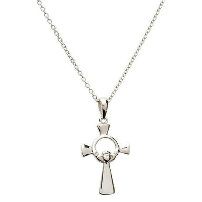 SF23 Silver Claddagh Cross by Shanore