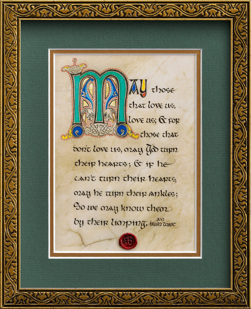 Limping Irish Toast - Framed Celtic Art Print