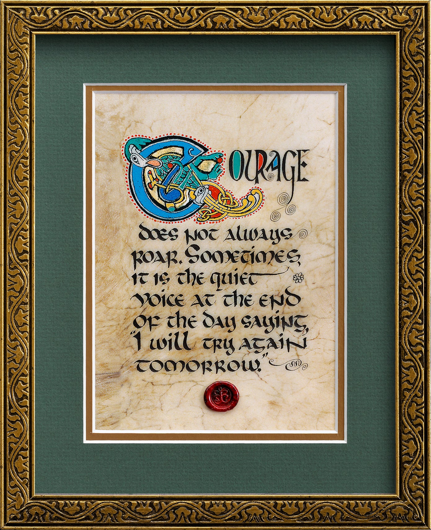Courage - Framed Celtic Art Print
