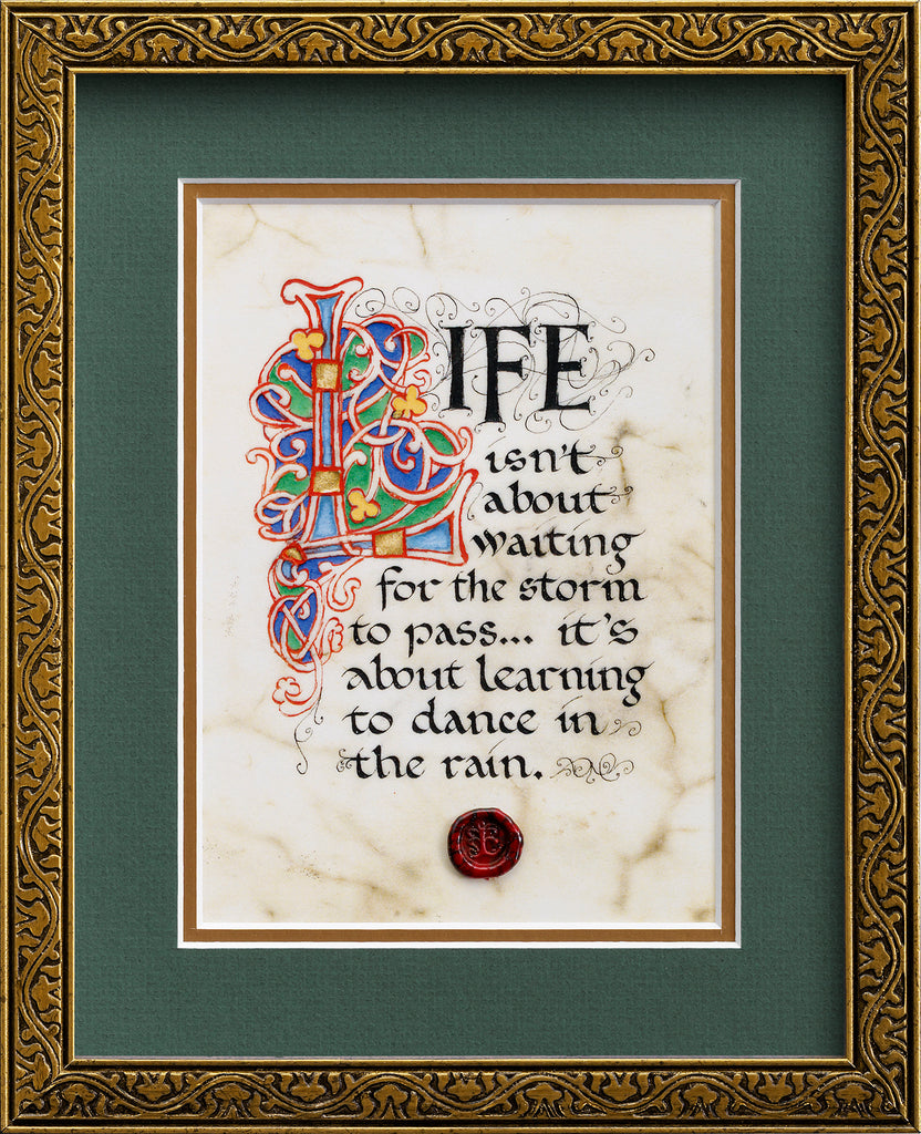 Dance In The Rain - Framed Celtic Art Print