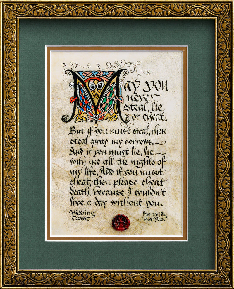 Wedding Toast - Framed Celtic Art Print