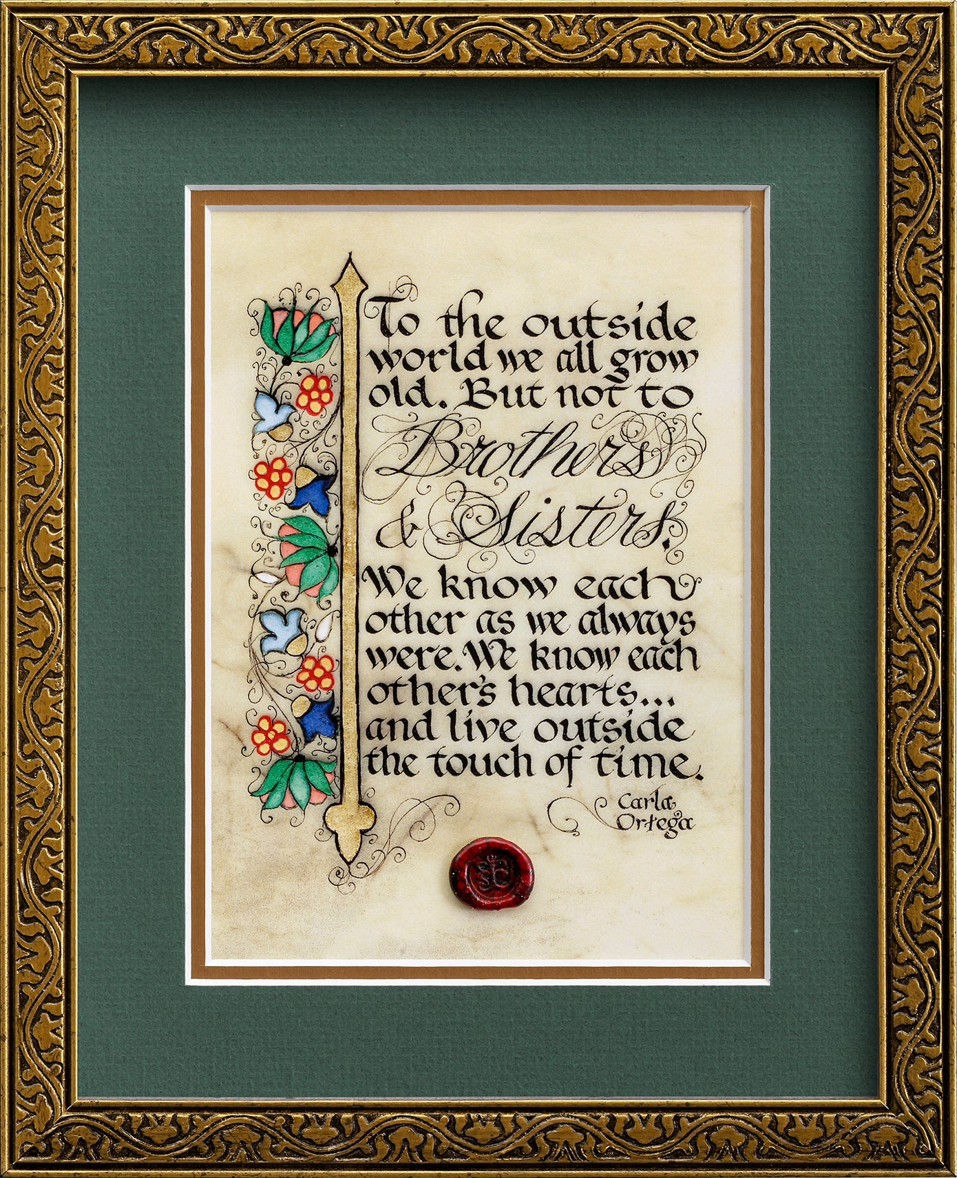 Brothers and Sisters - Framed Celtic Art Print