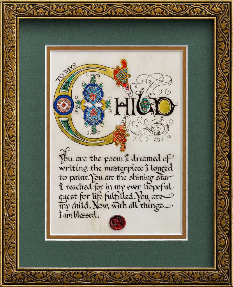 To My Child - Framed Celtic Art Print