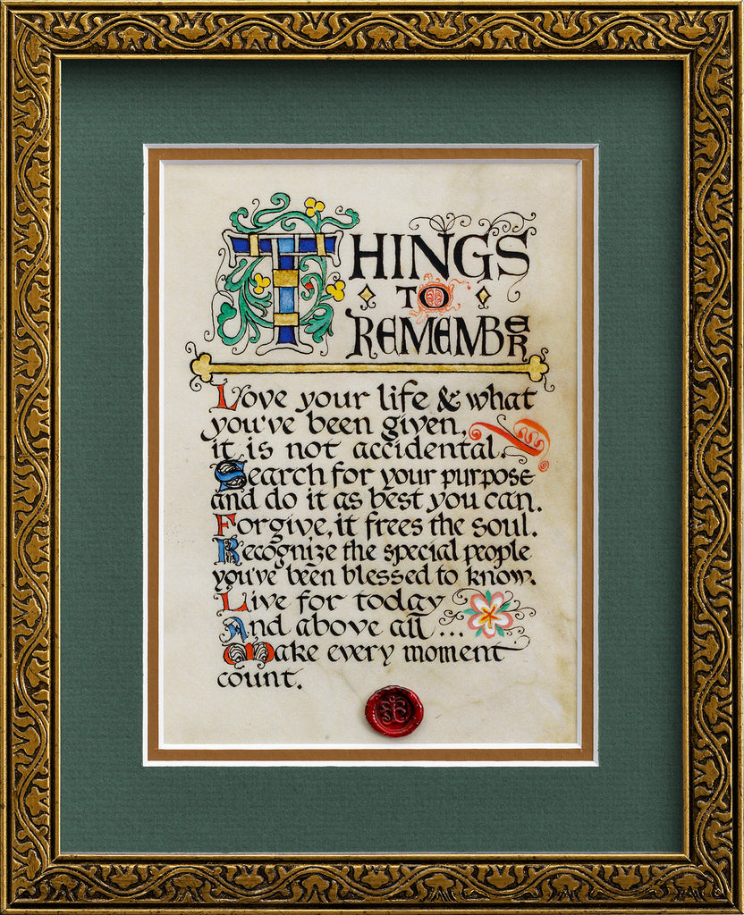 Things To Remember - Framed Celtic Art Print