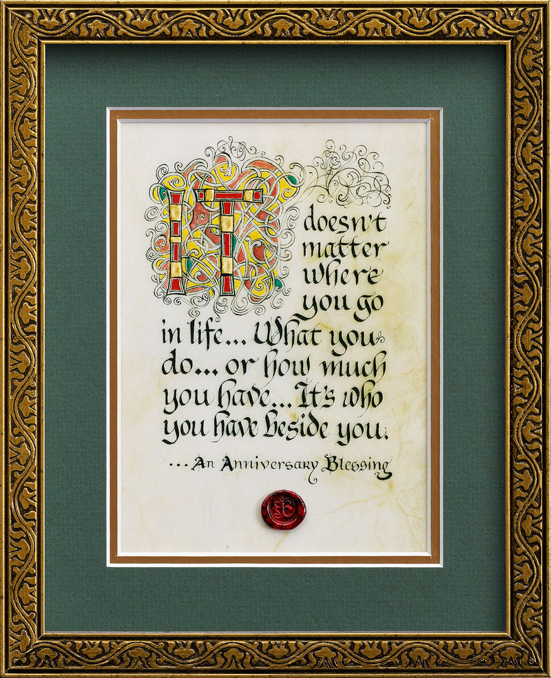 An Anniversary Blessing - Framed Celtic Art Print