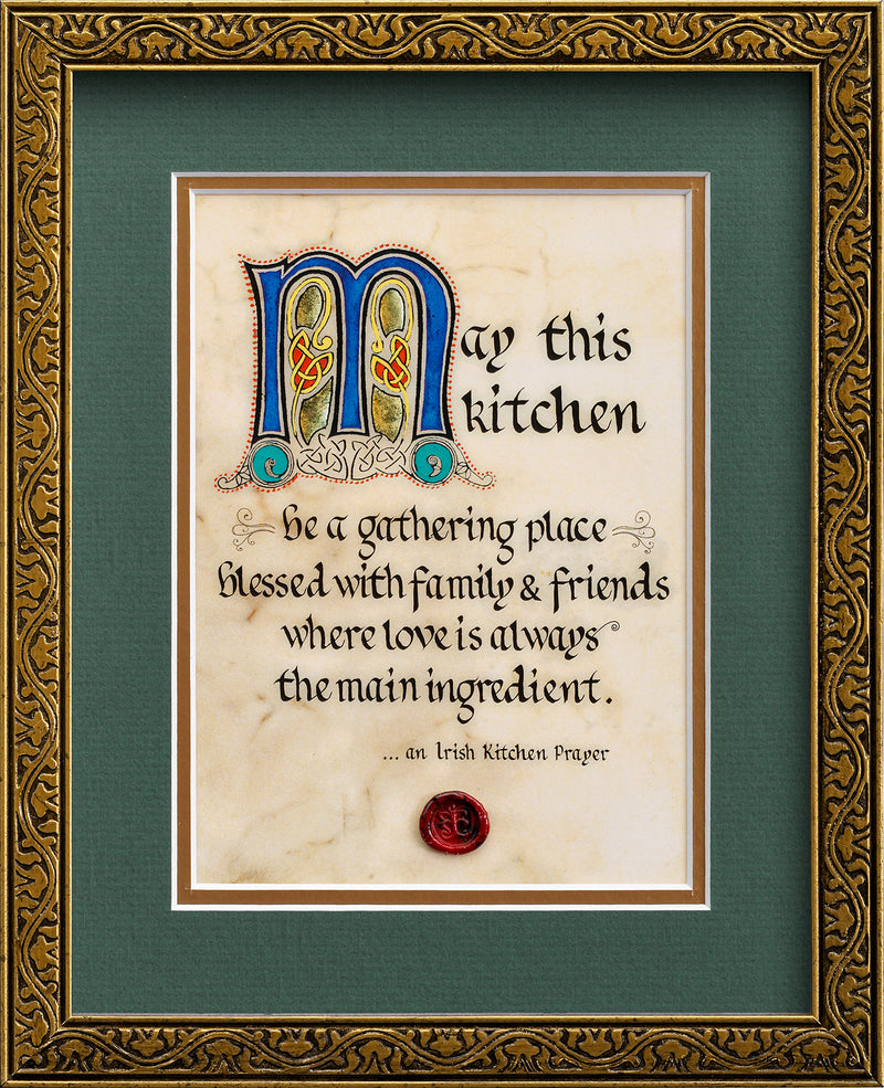 An Irish Kitchen Prayer - Framed Celtic Art Print