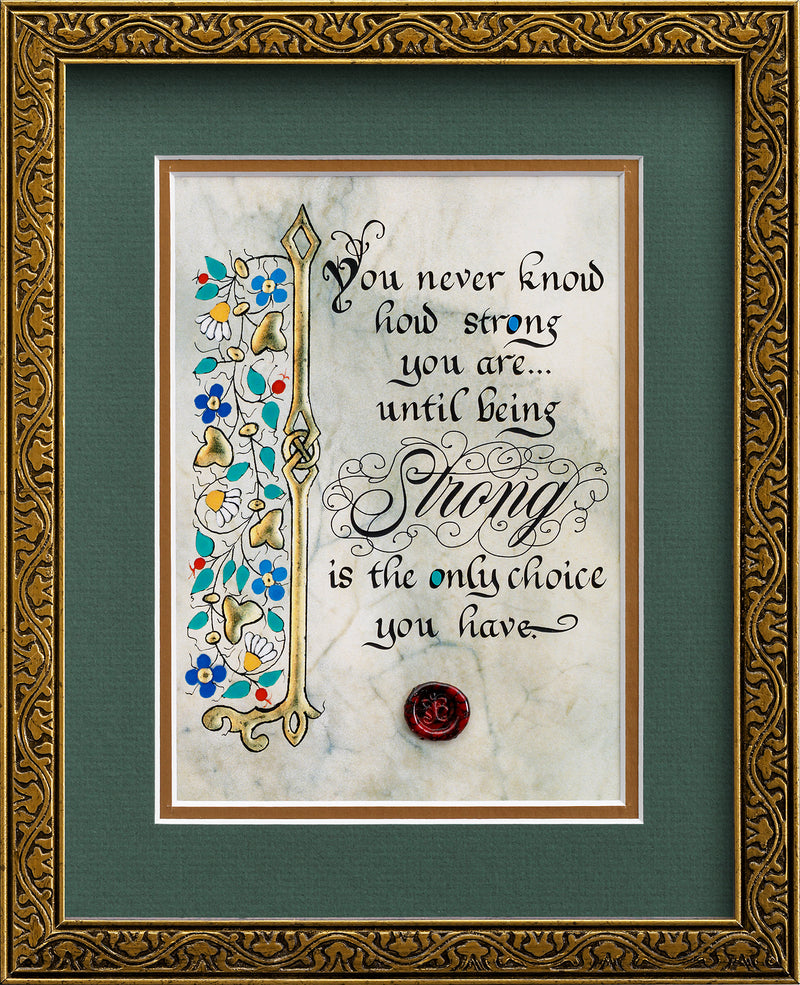 How Strong You Are - Framed Celtic Art Print