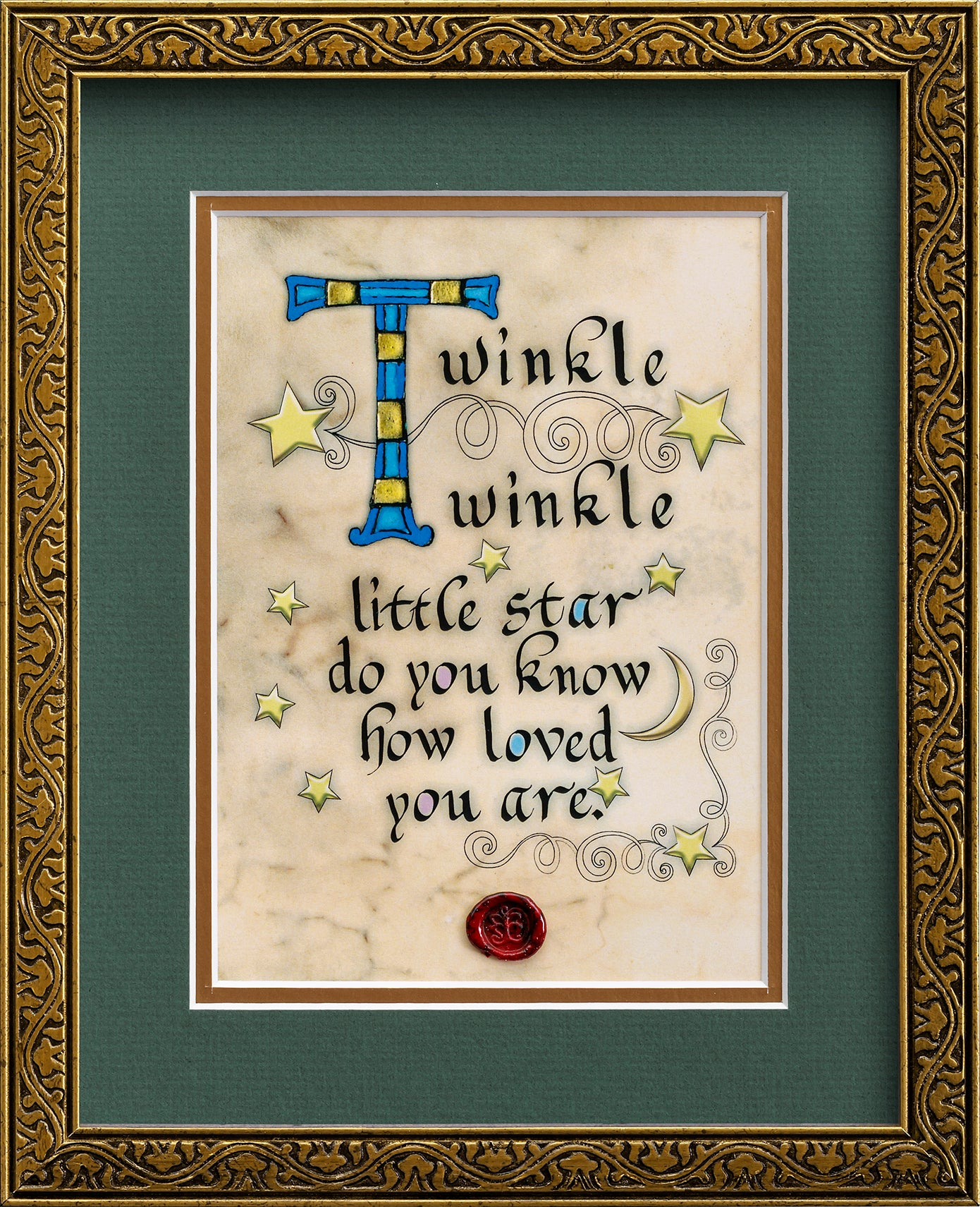 Twinkle Twinkle Little Star- Framed Celtic Art Print