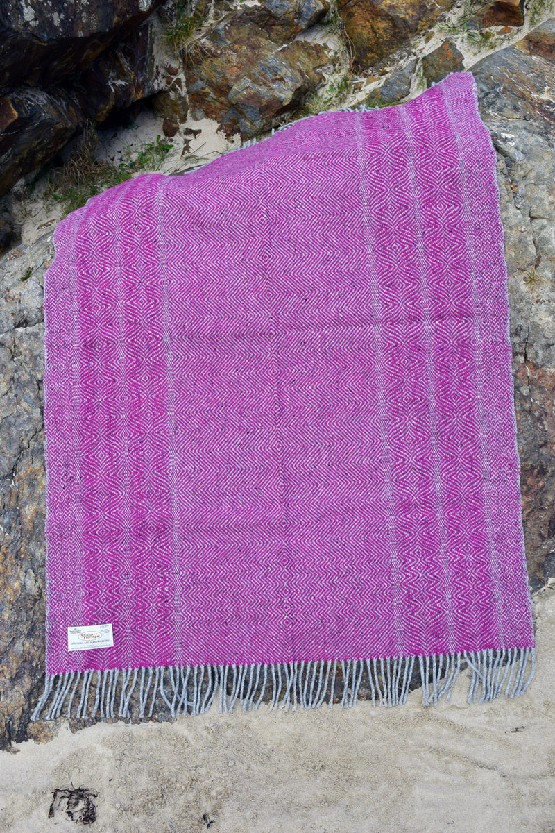 Undulating Twill Handwoven Throw Blanket