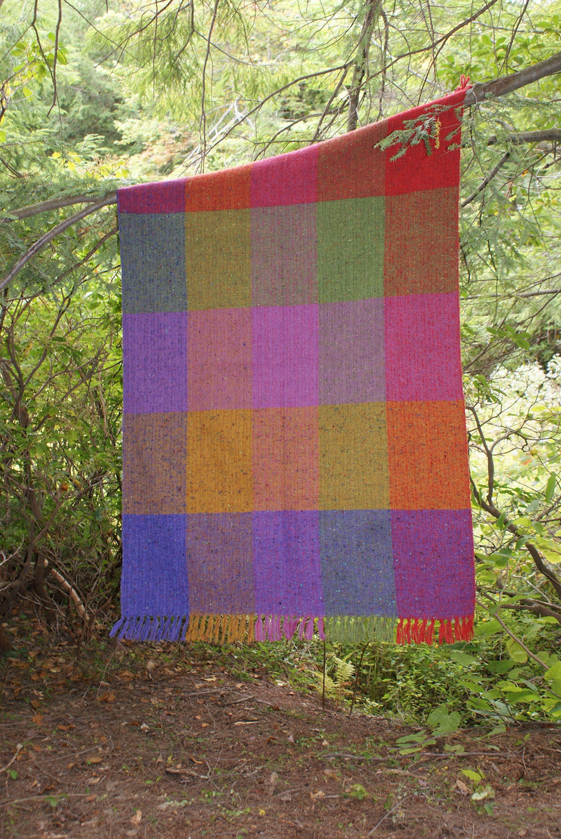Jumbo Check Blanket by Studio Donegal