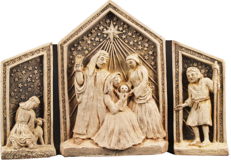 Freestanding Nativity Plaque by McHarp