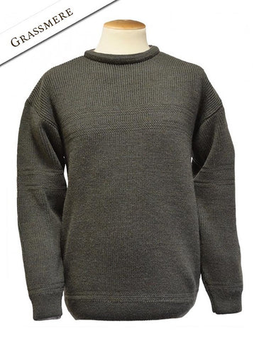 2 Tone Ribbed Crew neck Mens Sweater