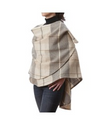 Plaid Shawl Cape