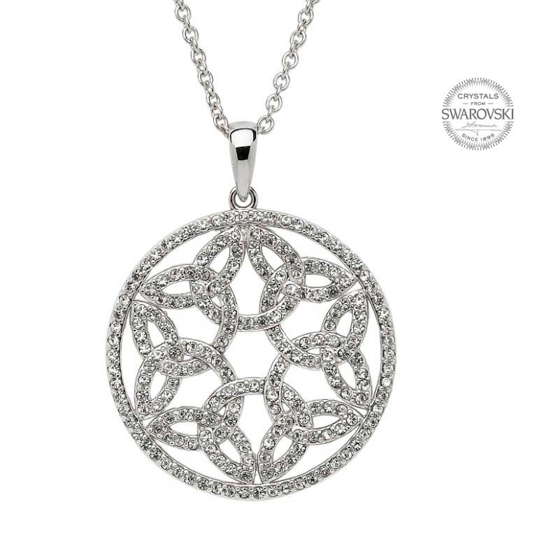 SW20 Trinity Circle Necklace Embellished With Swarovski Crystals by Shanore