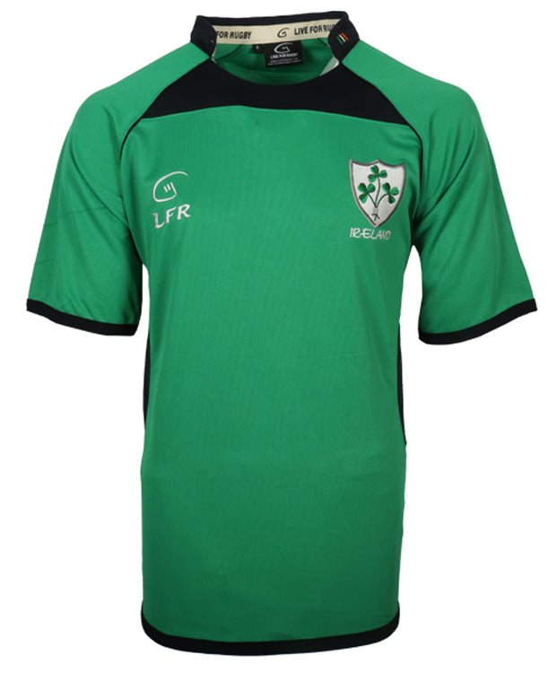 Kids Ireland Shamrock Breathable Rugby Jersey