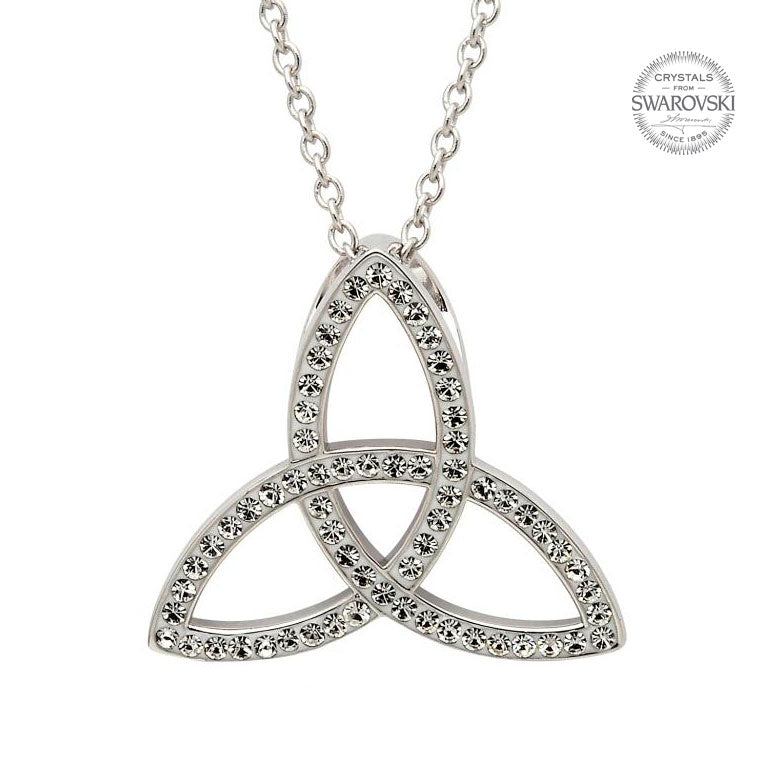 SW41 Celtic Trinity Knot Necklace Embellished With Swarovski Crystals