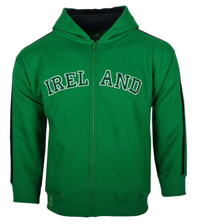Kids Ireland Retro Zip Hoody - Green