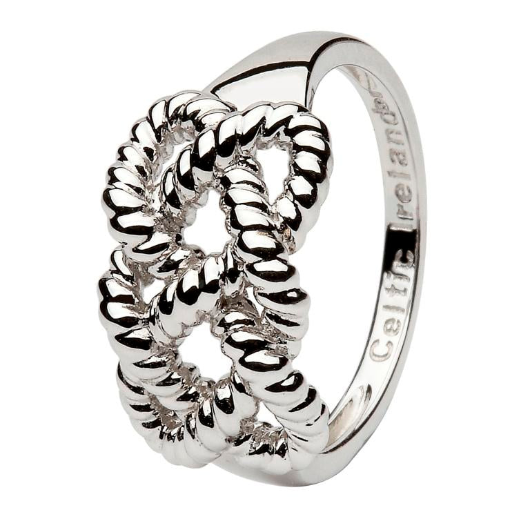 Sterling Silver Fisherman's Knot Ring by Shanore