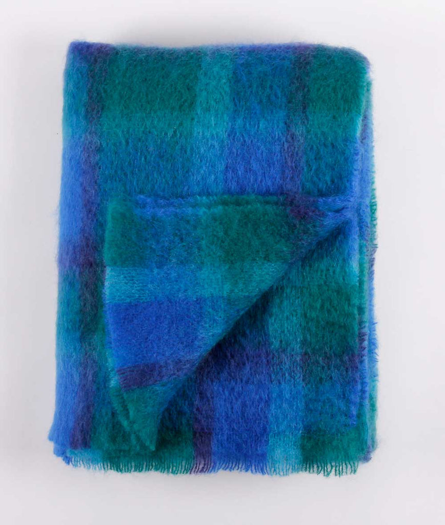 Brushed Mohair Throw - Ascot