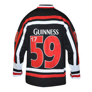 Guinness Red White and Black Hockey Jersey - G3002